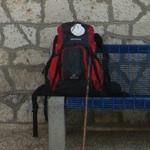 A mochila que a Helena leva