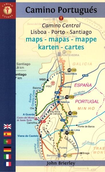 mapa caminho de santiago portugues Via Lusitana » Guia / Mapas do Caminho Português mapa caminho de santiago portugues